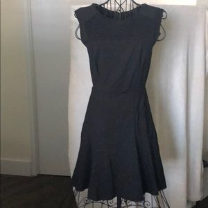 Banana Republic Black Fit and Flare Dress